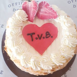 Torta chantilly fragole T.V.B 3 persone