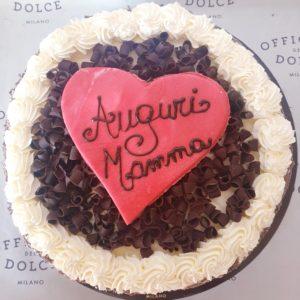 Pan di spagna festa della mamma al cioccolato 64% Gluten Free 3 persone