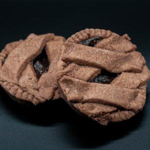 Crostatina con crema cotta al cioccolato